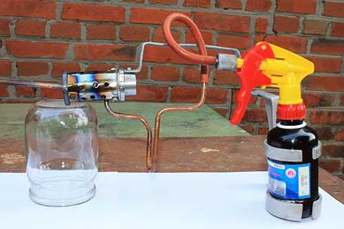 как приготовить раствор для дым пушки
